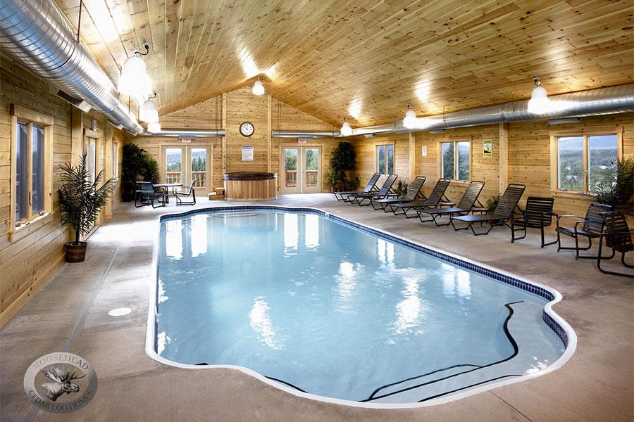 Log Cabin Home Indoor Pool