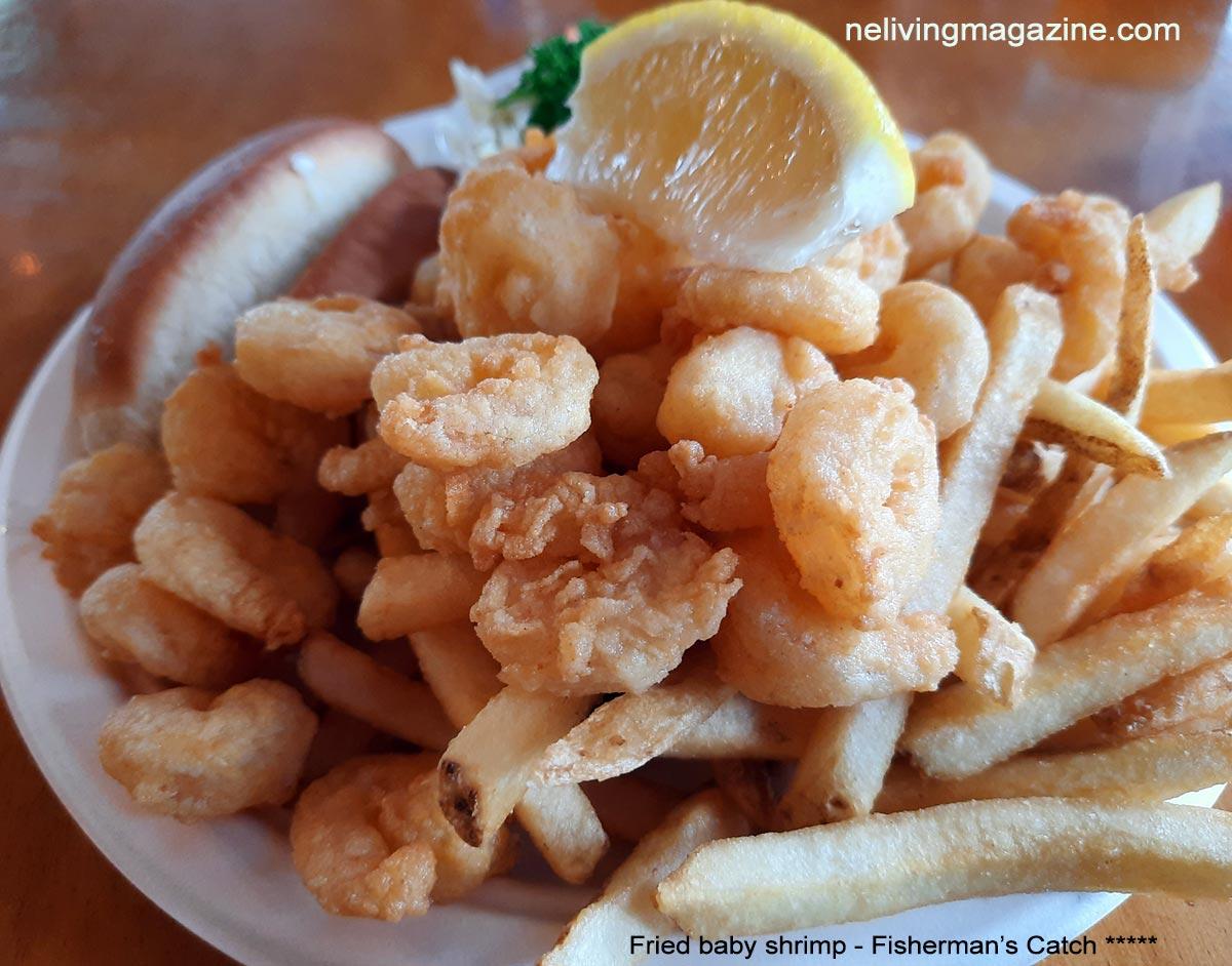 Fried Shrimp Dinner at Fisherman's Catch Restaurant Wells Maine