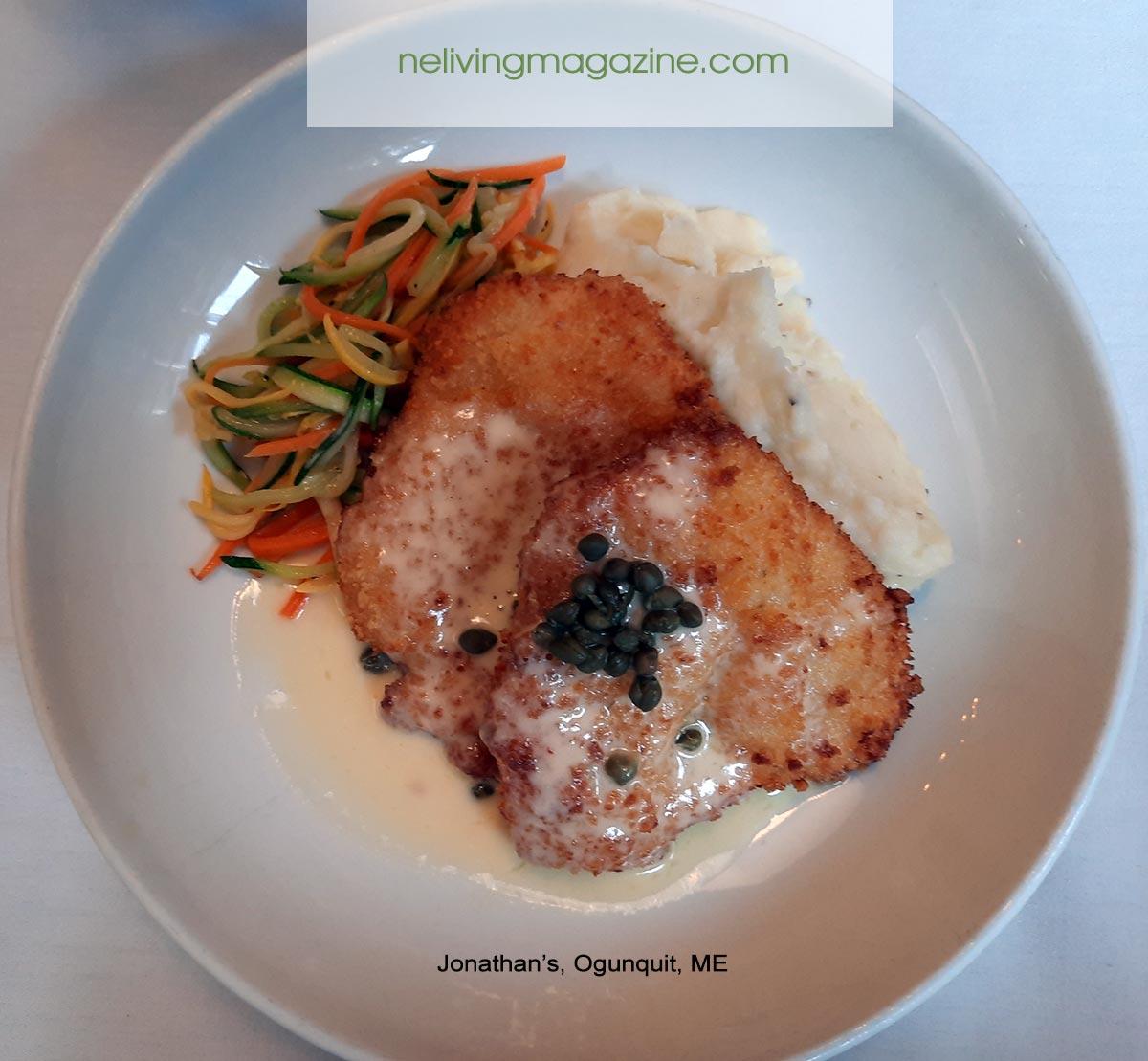 Chicken Piccatta - Jonathan's Ogunquit