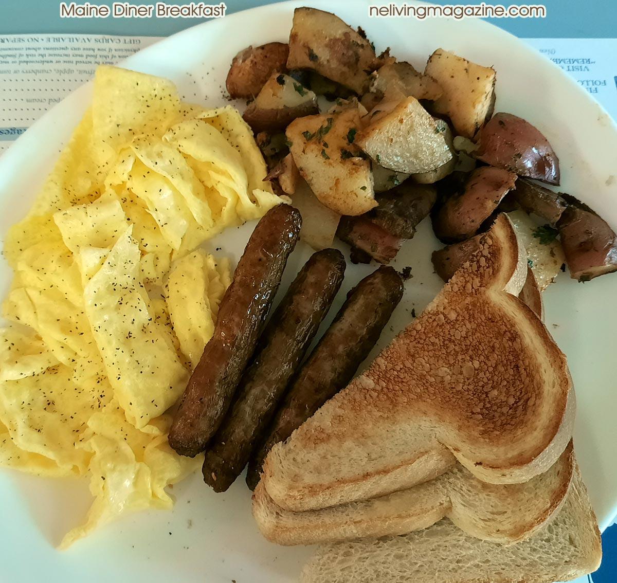 Maine Breakfast at Maine Diner