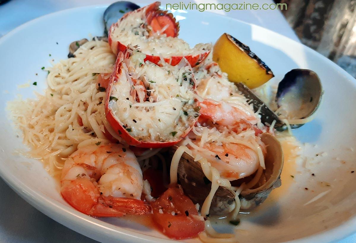 Maine seafood pasta